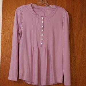 L.L. Bean long sleeved tunic. Like new. Lavender.